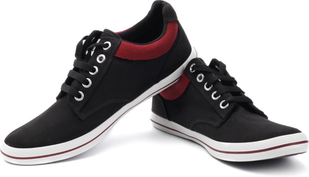Converse Canvas Shoes - Buy Black, Red Color Converse ...