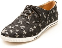 Marc Loire Marc Loire Women's Star Trail Black Casual Lace Up Sneakers