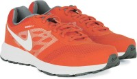 Nike AIR RELENTLESS 4 MSL Men Running Shoes Grey, Orange, White