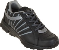 Zovi Black Sports With Grey Accents Running Shoes