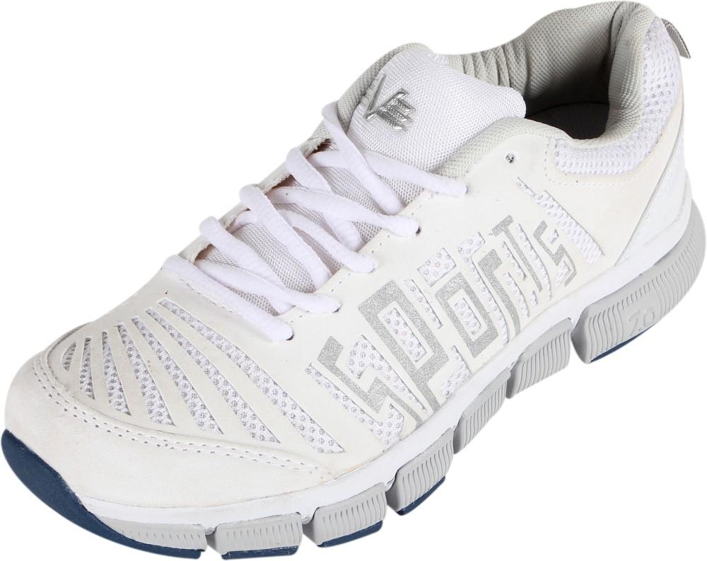 Vijayanti 6086 White Running Shoes