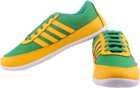 Shoestriker Green&Yellow Canvas Shoes: Shoe