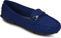 Kielz Blue-Synthetic Leather-Ladies Loafers Loafers Blue