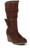 Stylistry Brown Color Boots - SHOEFMJD4FTUQXNC