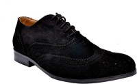 Hirel's Men Suede Leather Brogues Lace Up Shoes