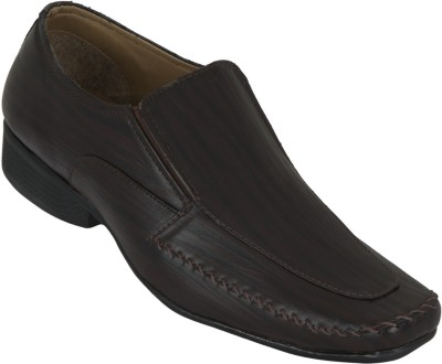 Zovi Brown Slip-on Formal With Prominent Stitch Detail Slip On