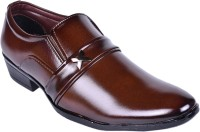 KADMAY Men's Synthetic Formal Brown Shoe KY001SFBRN-7 Slip On Brown