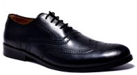 Hirel's Mens Leather Brogues Lace Up Shoes