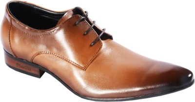 Pinellii Chow Khaki Italian Hand Crafted Lace Up Shoes