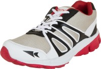 Zovi Black And White Sports With Red Accents Running Shoes