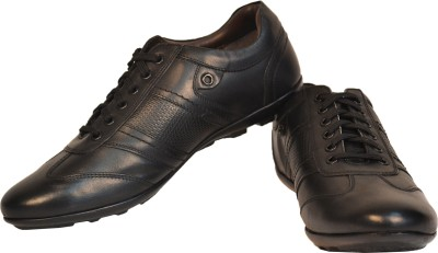 TSF Black Leather Casuals Shoes - Buy Black Color TSF Black