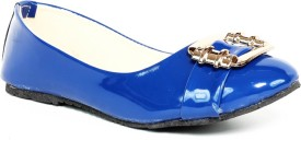 Just Flats Ladies Blue Colored Bellies by Just Flats Loafers