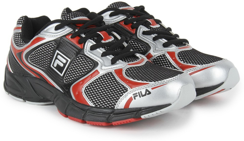 Fila REACH Running Shoes Black Red Silver