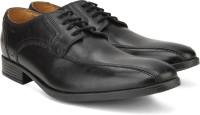 Clarks Kalden Vibe Black Leather Lace Up Black