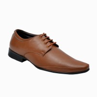 Cooper England Men's Tan Synthetic Formal Lace Up Shoes