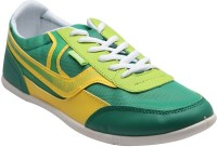 F22 Green Yellow Lace Up For Men Casual Shoes Green