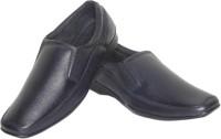 Azzaro Black Genuine Leather Hacker Slip On Shoes