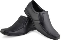 Zapatoz Black Formal Slip On Shoes