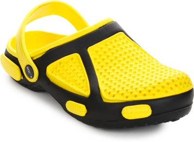 Arre Baba Crocks Yellow Black Clogs