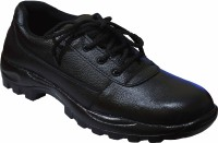 Feetway Genuine Leather Steel Toe Safety Lace Up Black