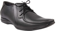 CheX Black Leather Derby Lace Up Shoes