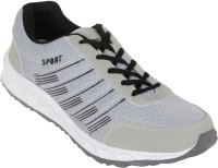 Zovi Grey Sports With Black Accents Running Shoes