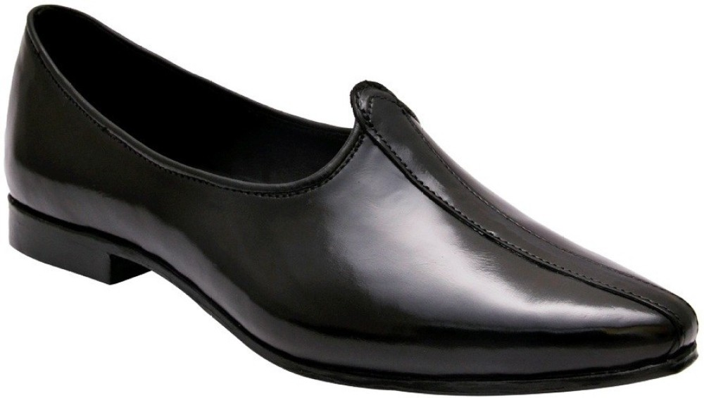 BXXY Black Genuine Leather Nagra Jutis Men Black Ethnic buy at best and lowest price in India