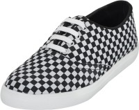 Advin England Black & White Check Casual Shoes Casuals
