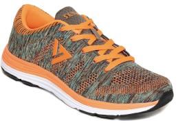 SEVEN Seven Odin Neutral Grey Neon Orange Running Shoes For Women Running Shoes