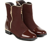 TEN TEN Women's Brown Ankle Length Boots Boots