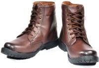 Kohinoor Harley Brown High Ankle Length Boots