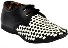 RVR Gd09 Blk Wht Casual Shoes