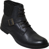 Zovi High-ankle With Lace And Buckle Boots Black