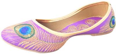 DFR Purple Mor Pankh Design Jutti Jutis