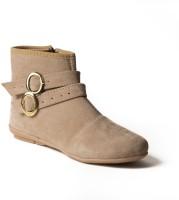 Babes Women Beige Ankle Boots Beige
