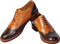 Tomahawk Oxford Two-Tone Classic Wingtip Party Wear