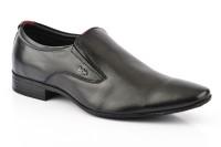 Lee Cooper Men Genuine Leather Slip On Shoes Black