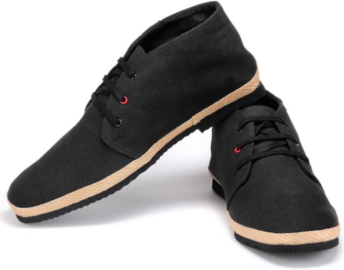 Funk Dozo Black Canvas Shoes