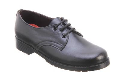 Titas B Boy Black Leather School Shoes Lace Up