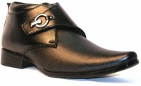 DK Derby Kohinoor Black Slip On Shoes