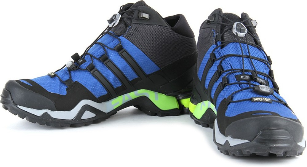 Adidas TERREX FAST R MID GTX Men Outdoor Shoes Black Blue