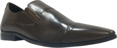 Sleek Sleek Office Slip On Shoes (Brown)