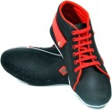 Big Wing Fashionable Black & Red Sneakers