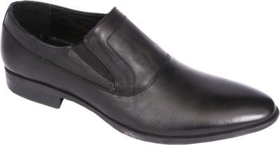 Pinellii Bavaria Slip on Black (Italian Hand Crafted) Slip On Shoes