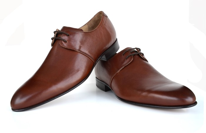 Language Derby Brown Leather Lace Up Shoes