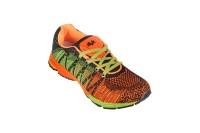 Vijayanti V-Knit Knitted Running Shoes Black, Orange
