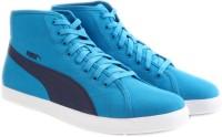 Puma Elsu V2 Mid CV DP Men Canvas Shoes Blue