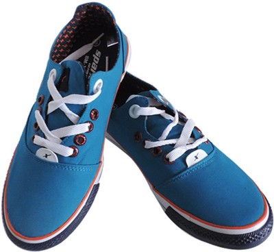 sparx trendy blue canvas shoes best deals with price