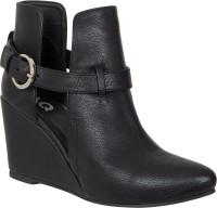 AQ Bellisa Black Stylish Strap Boots