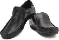 Red Tape Men Genuine Leather Slip On Shoes Black